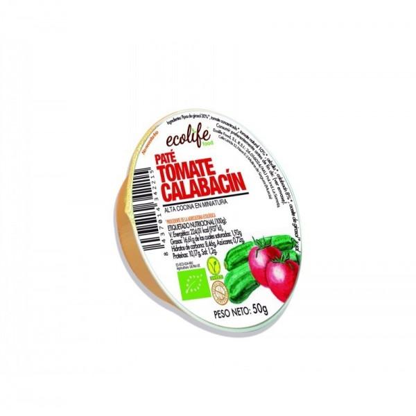 pate tomate y calabacin ecolife 50 gr bio