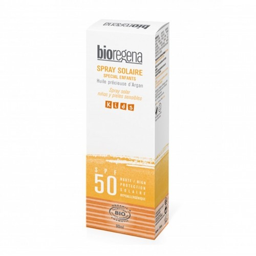 spray solar niños pieles sensibles spf50 bioregena 90 ml