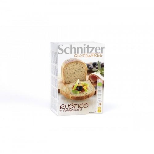 pan rustico amaranto sin gluten schnitzer 2x250 gr bio