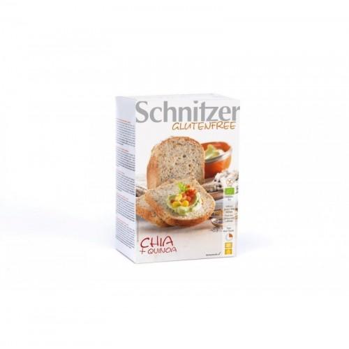 pan chia harina quinoa sin gluten schnitzer 2x250 gr bio