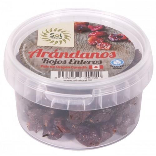 arandanos rojos enteros sol natural 125 gr bio