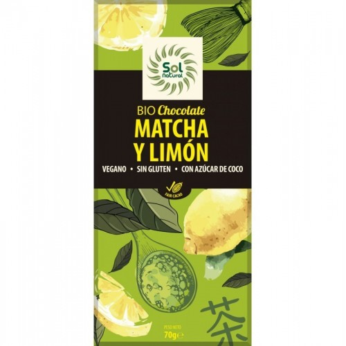 chocolate matcha limon sol natural 70 gr bio