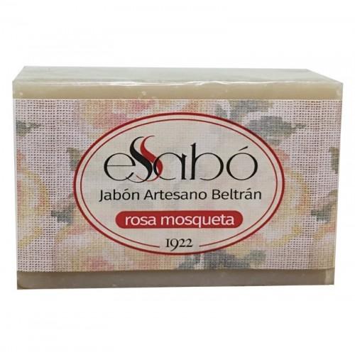 jabon rosa mosqueta artesano essabo 100 gr