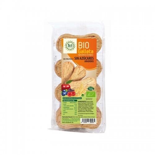 galleta frutas sin azucar sol natural 150 gr bio