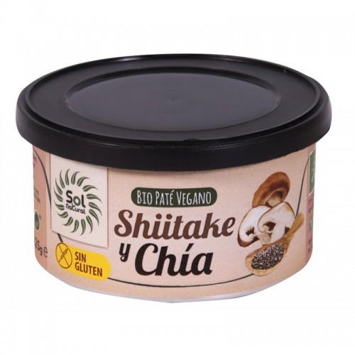 pate vegano shiitake y chia sin gluten sol natural 125 gr bio