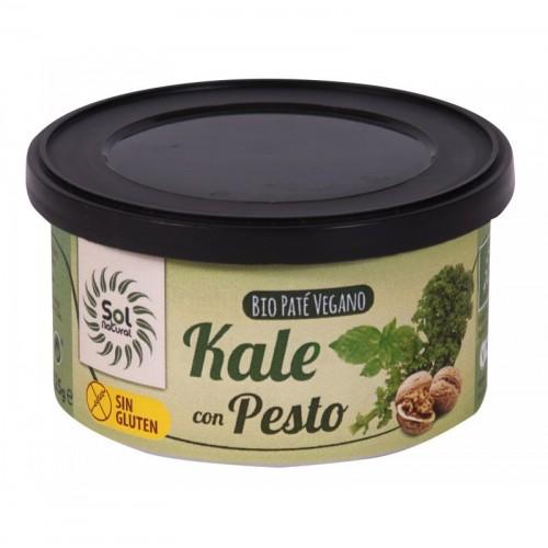 pate vegano kale con pesto sin gluten sol natural 125 gr bio