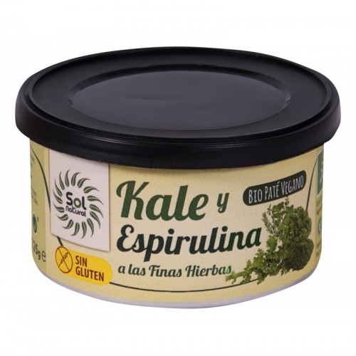 pate vegano kale espirulina y finas hierbas s g s p sol natural 125 gr bio