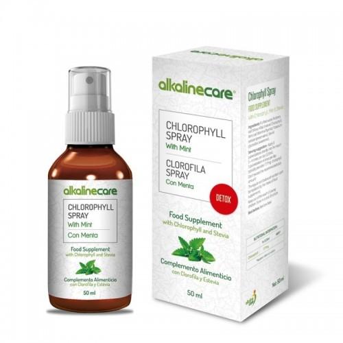 clorofila menta stevia spray alkaline care 50 ml