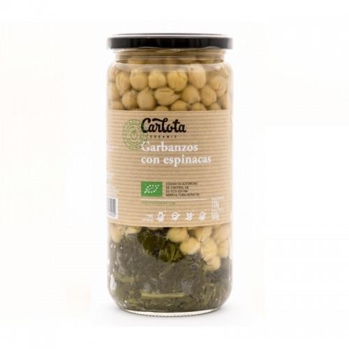 garbanzos con espinacas carlota 720 gr bio