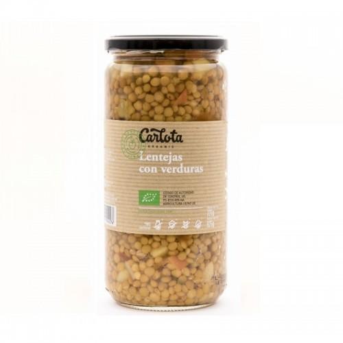 lenteja con verduras carlota 720 gr bio