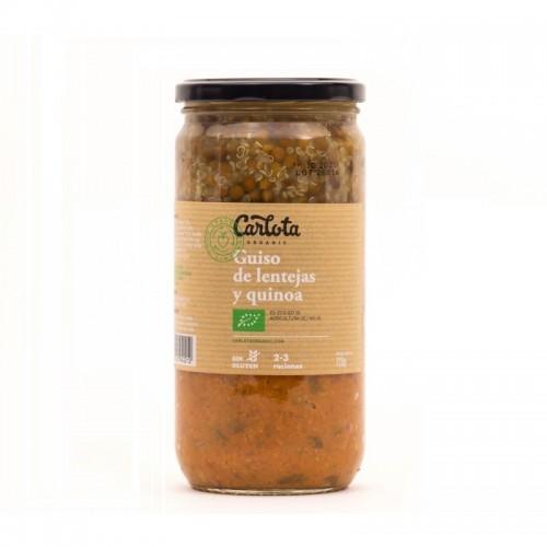 guiso de lenteja con quinoa carlota 720 gr bio