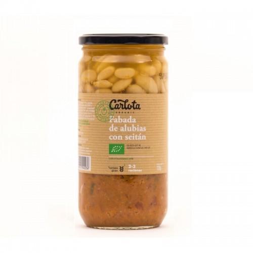 fabada alubias con seitan carlota 720 gr bio