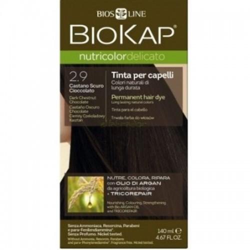 tinte delicato castaño oscuro chocolate 290 biokap 140 ml bio