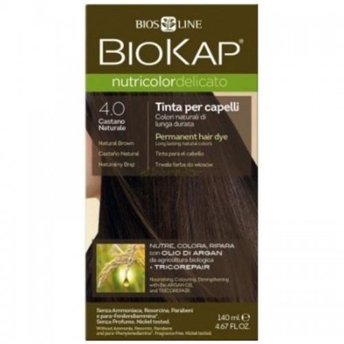 tinte delicato castaño natural 400 biokap 140 ml bio