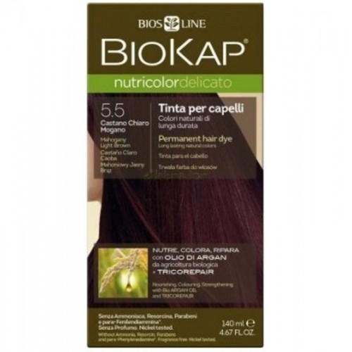 tinte delicato castaño claro caoba 550 biokap 140 ml bio