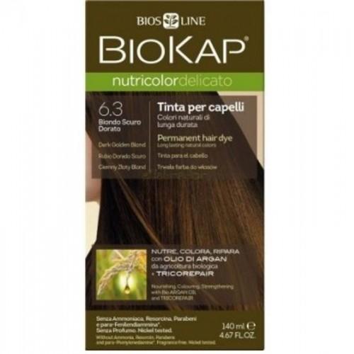 tinte delicato rubio dorado oscuro 630 biokap 140 ml bio