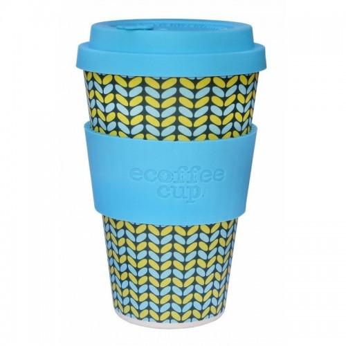 vaso de bambu norweaven azul con tonos azules y amarillos ref117 alternativa 3 400 ml