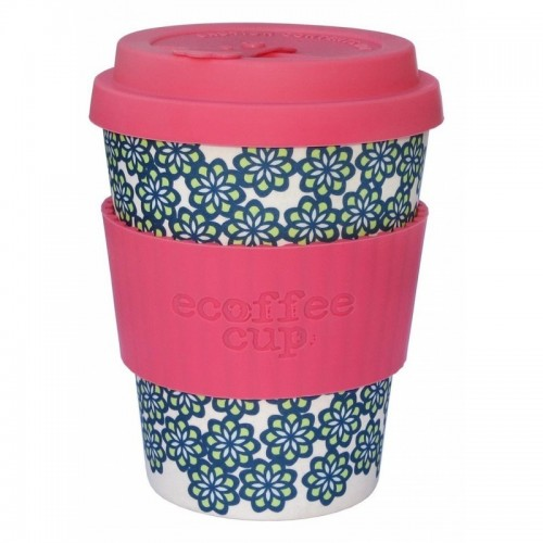 vaso de bambu like totally rosa flores azules ref203 alternativa 3 340ml