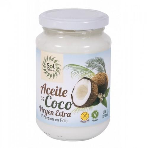 aceite coco virgen extra sol natural 370 ml bio