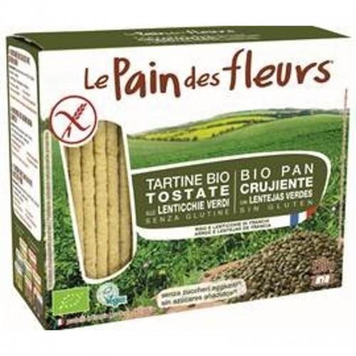 pan flores lenteja verde 150 gr bio