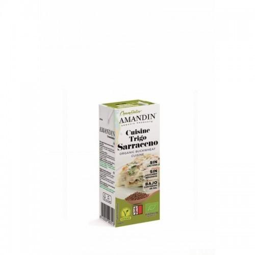 crema cuisine trigo sarraceno amandin 200 ml