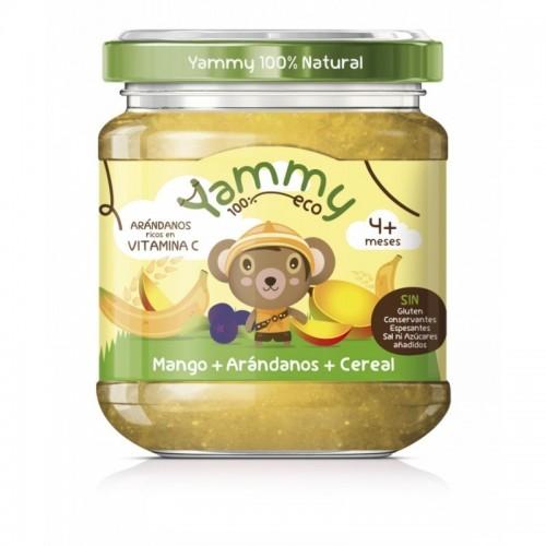 potito platano mango arandanos cereal yammy 195 gr bio