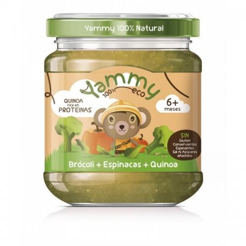 potito calabaza brocoli espinacas quinoa yammy 195 gr bio