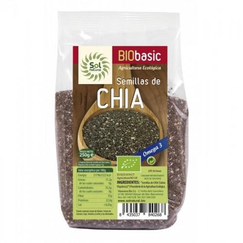 semillas chia sol natural 250 gr bio