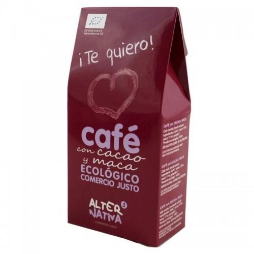 cafe cacao maca molido alternativa 3 125 gr bio te quiero