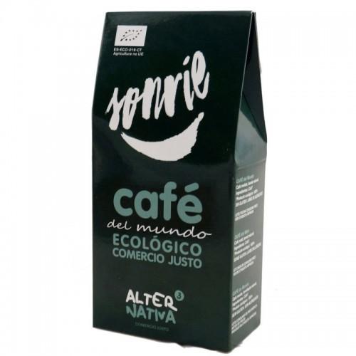 cafe mundo molido alternativa 3 125 gr bio sonrie
