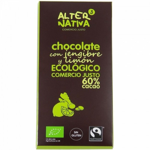 chocolate 60 jengibre limon alternativa 3 80 gr bio