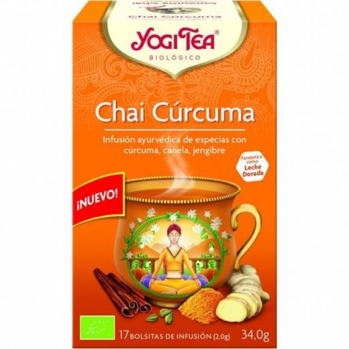 yogi tea chai curcuma 17 bolsas bio