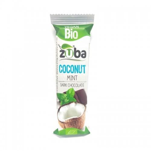 barritas coco chocolate negro menta zuba 53 gr