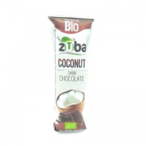 barritas coco chocolate negro zuba 53 gr