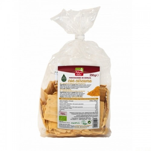 mini crackers espelta curcuma pimienta finestra 250 gr bio