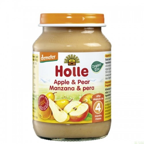 potito manzana pera holle 190 gr demeter eco