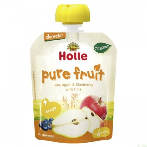 smoothie pera manzana platano arandano avena holle 90 gr demeter eco
