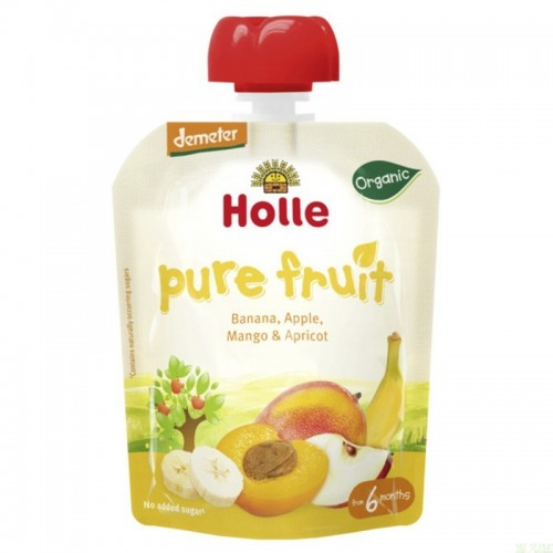 smoothie manzana platano mango albaricoque holle 90 gr demeter eco