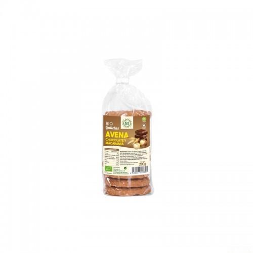 galletas avena chocolate macadamia sol natural 200 gr
