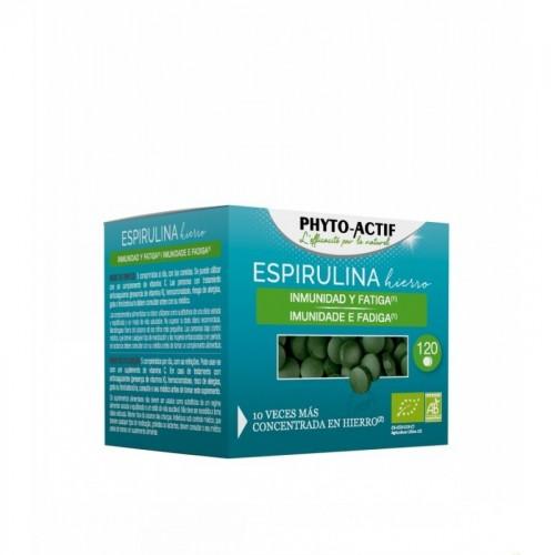 espirulina hierro phitoactif 120 capsulas bio