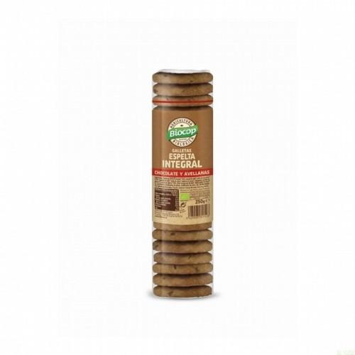galleta espelta integral chocote avellana biocop 250 gr bio