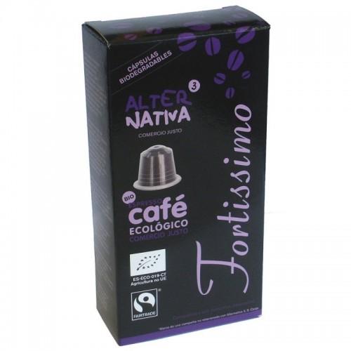 cafe fortissimo alternativa 3 10 capsulas bio