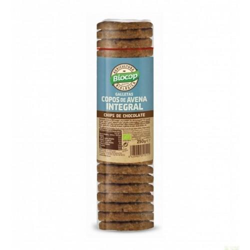 galleta copos avena intchips choco biocop 250 gr bio