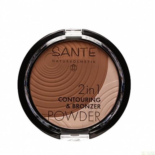 maquillaje polvo bronceador 2 en 1 02 medium dark sante