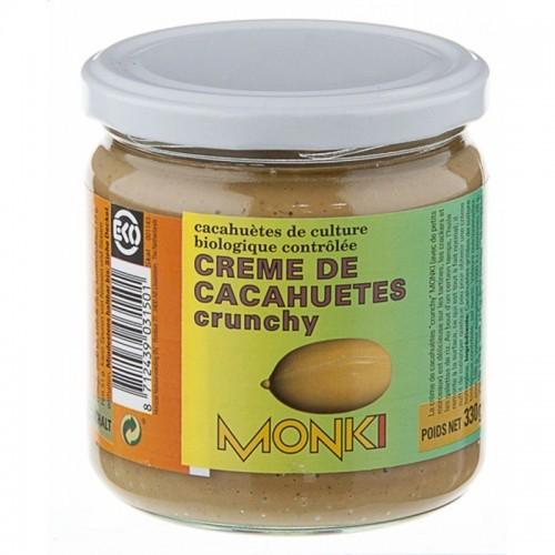 crema cacahute crunchy monki 330 gr