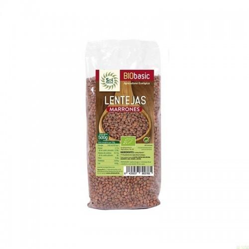 lentejas marrones sol natural 500 gr bio