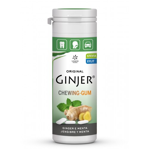 ginger chicles jengibre menta lemon pharma 30 gr