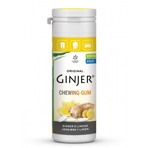 ginger chicles jengibre limon lemon pharma 30 gr