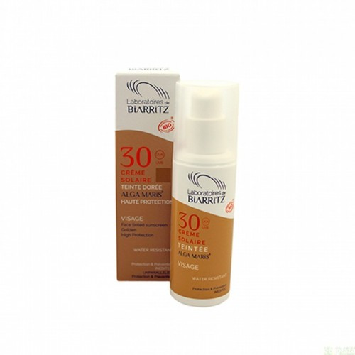 crema solar facial golden spf30 alga maris 50 ml