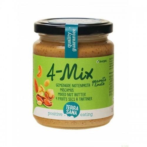 crema frutos secos con cacahuete 4 mix terrasana 250 gr bio